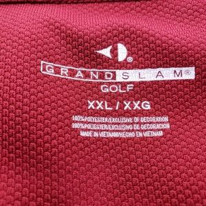 Grand Slam Shirts - Men's Grand Slam Polo Golf Shirt 2x